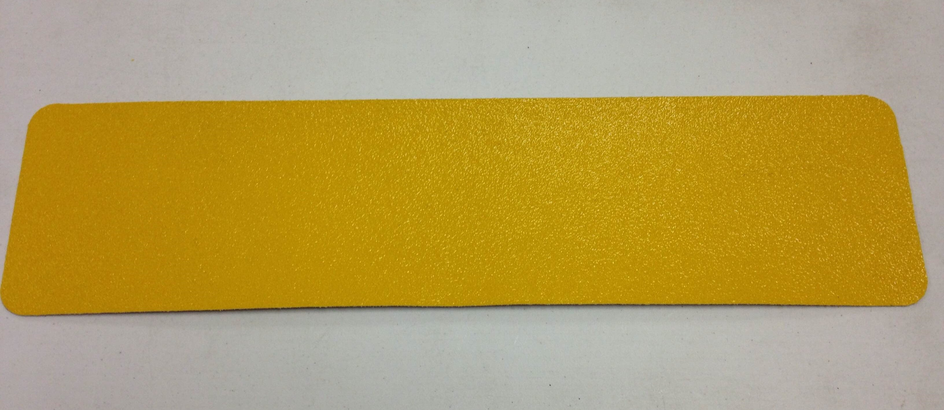 "3"" X 24"" Tread YELLOW Extreme Adhesive Medium Grit Abrasive Tape - Case of 12"