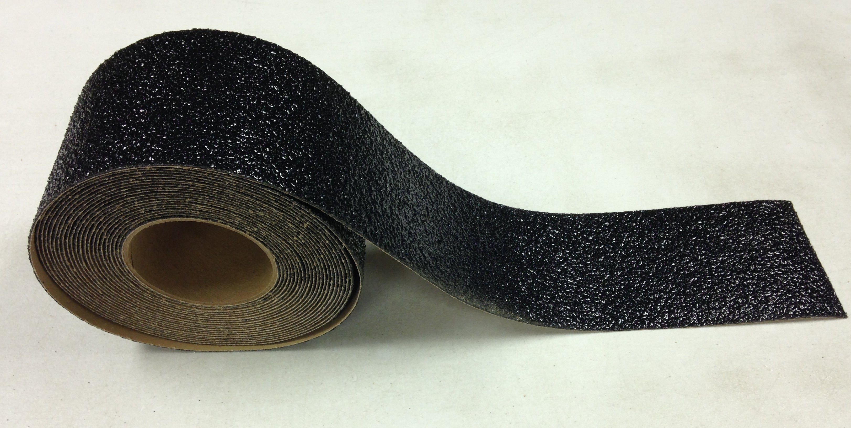 "4"" Wide x 30' Roll BLACK Abrasive Extreme Adhesive Medium Grit Tape - Case of 3"