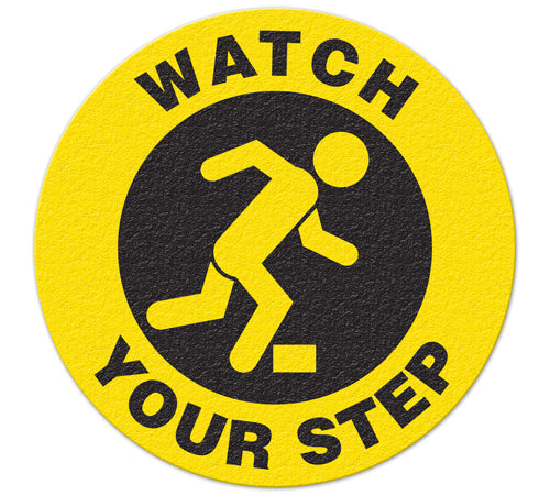 Incom Anti-Slip Safety Watch Your Step Floor Sign FS1034V