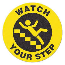 Incom Anti-Slip Safety Watch Your Step Floor Sign FS1033V