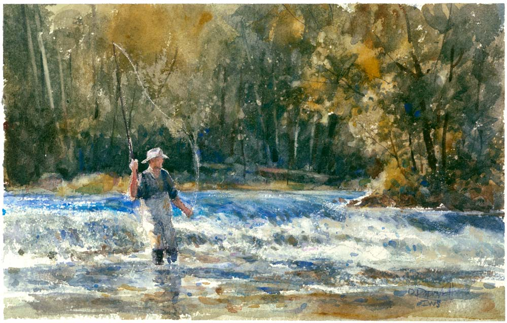 'On a Good Day' Original Watercolor - Studios of Dale L Popovich