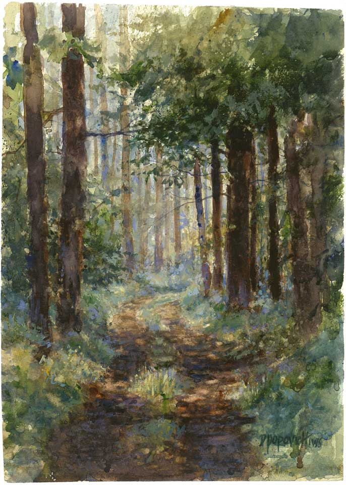 'Walking with the Light' Watercolor Fine Art Giclée Print - Studios of Dale L Popovich