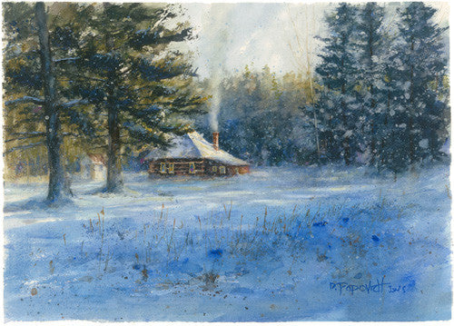 'Thanksgiving Morning' Watercolor Fine Art Giclée Print - Studios of Dale L Popovich