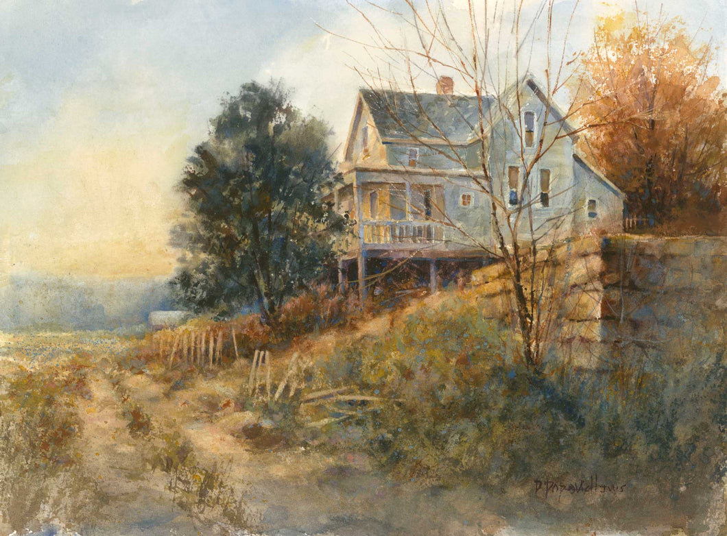 'Hilltop House' Watercolor Fine Art Giclée Print - Studios of Dale L Popovich