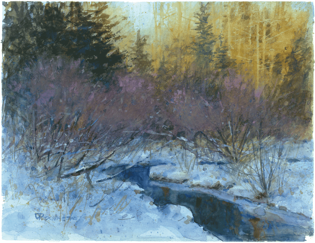 'A Blanket of Shadows' Watercolor Fine Art Giclée Print - Studios of Dale L Popovich