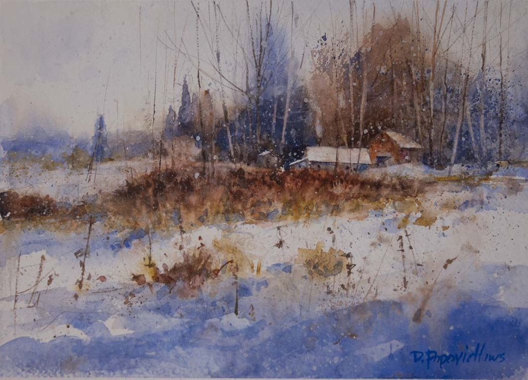 'Life Goes On' Watercolor Study - Studios of Dale L Popovich