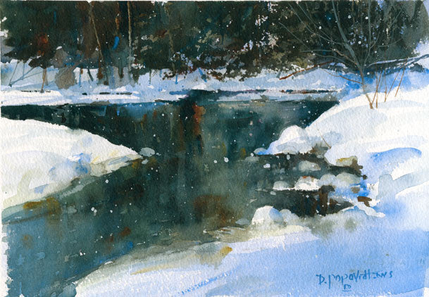 'Wisconsin River' Watercolor Fine Art Giclée Print - Studios of Dale L Popovich