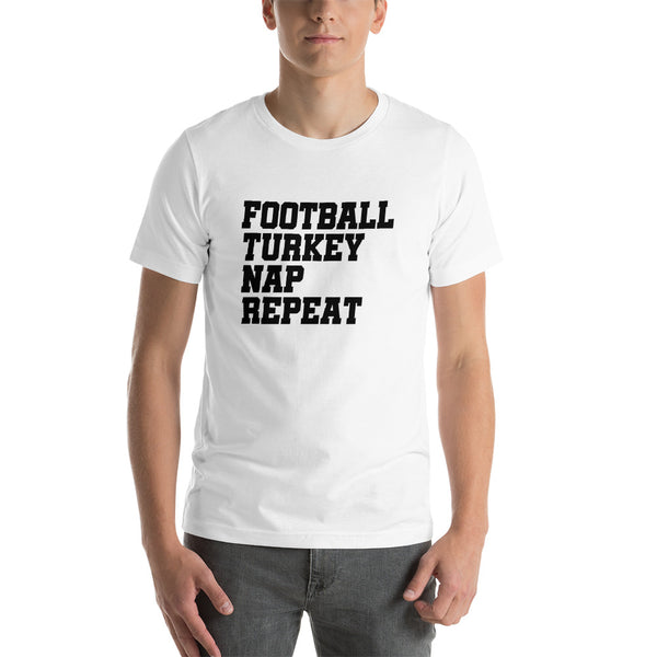 Thanksgiving Football Turkey and Nap T-shirt - AyoTee