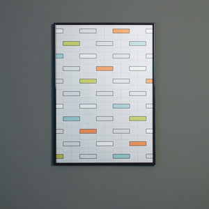 Scandinavian poster 50x70 minimal interior wall decor for child
