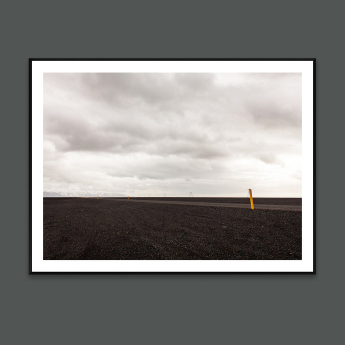 Black and white art photo by Minumo Iceland landscape for nordic wall