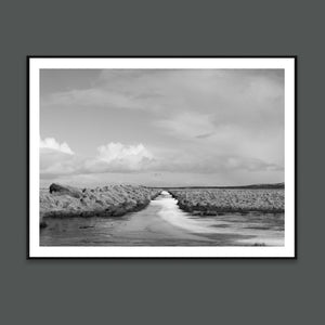 Follow the road art print By Minumo black and white photo from Iceland landscape