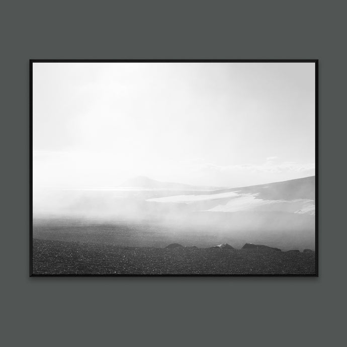 Foggy art print with Icelandic landscape for modern interior nordic photos by Minumo