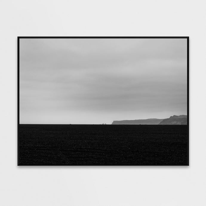 Bestselling Posters minimal nordic landscape in Iceland black beach Vik art poster 50x70cm by Minumo