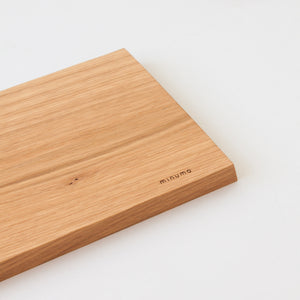 Minumo large minimal wooden cutting and serving board fold from oak with logo