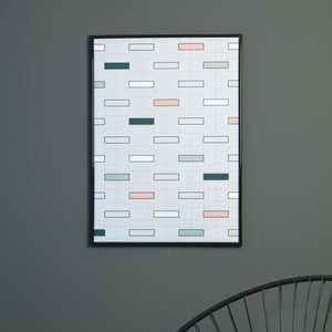 Minumo Urban art print 'Copenhagen Bricks' for modern home