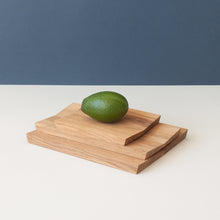 Load image into Gallery viewer, Minumo modern wooden cutting and serving board estonian design