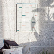 Load image into Gallery viewer, Minumo graphical Urban art poster 'Copenhagen Bricks' on the nordic office wall