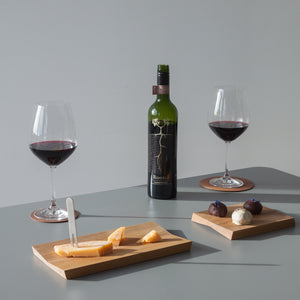 Minimal design home decor for serving on the party table with wine and cheese and truffels