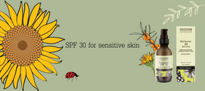 Natural plant-based sunscreen spf 30 physical mineral