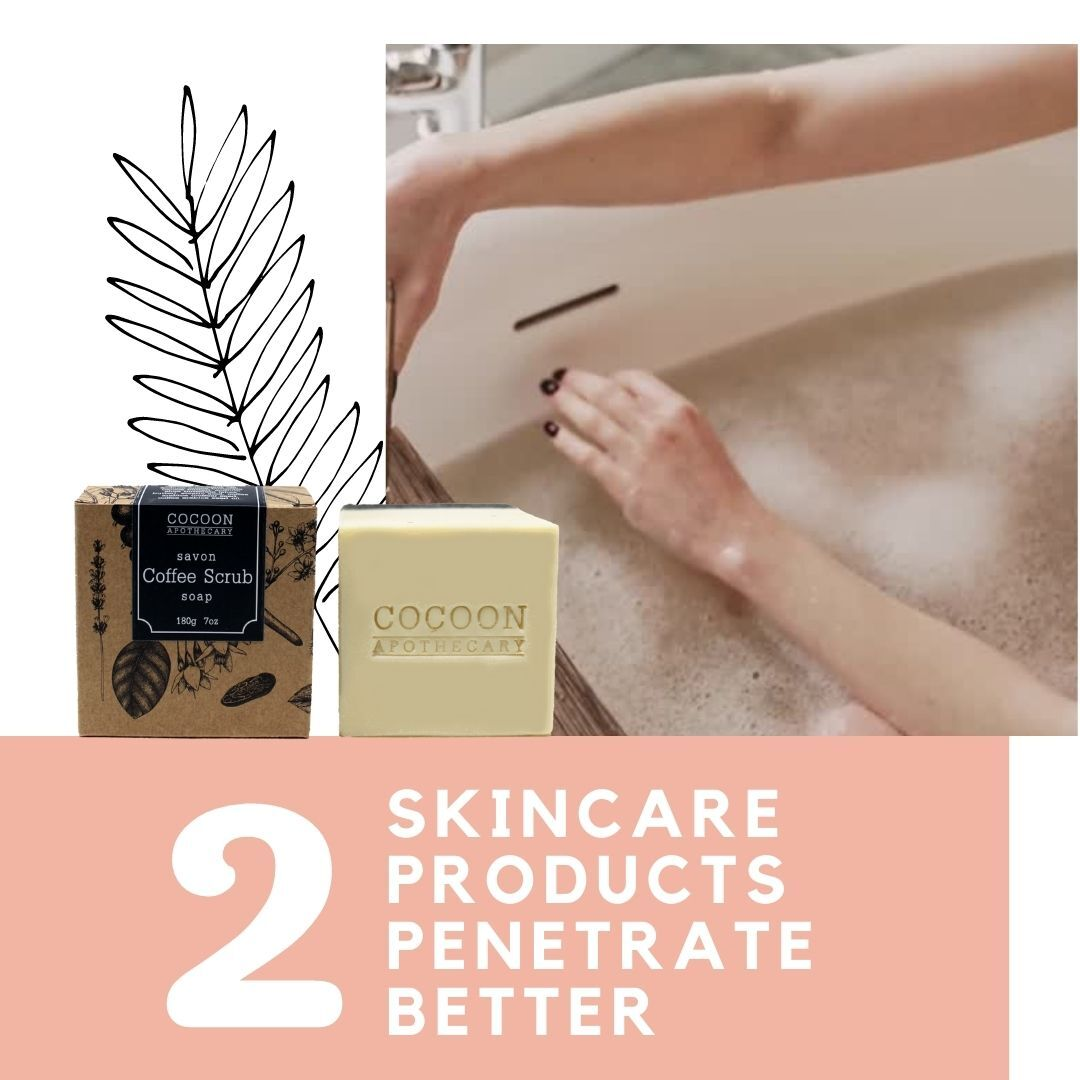 skin care products penetrate better