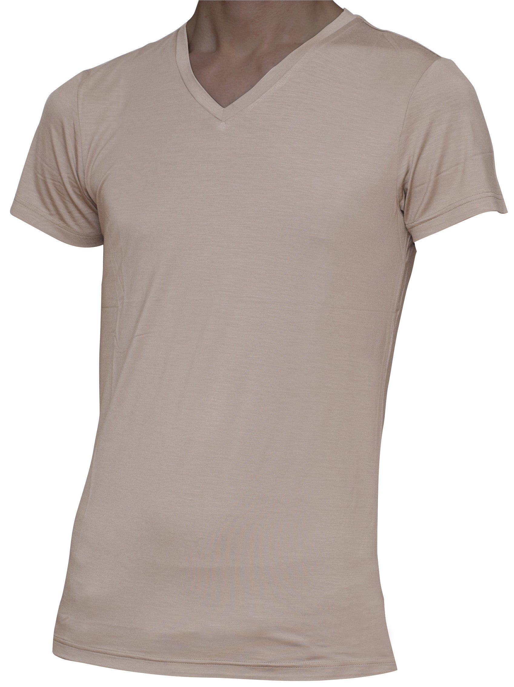 Men's Extra Long Slim-Fit V-Neck Undershirts