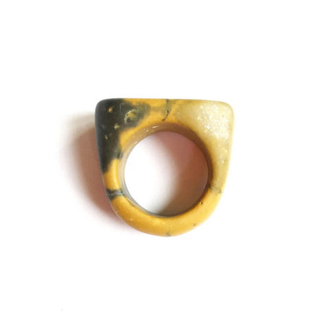 yellow jasper ring