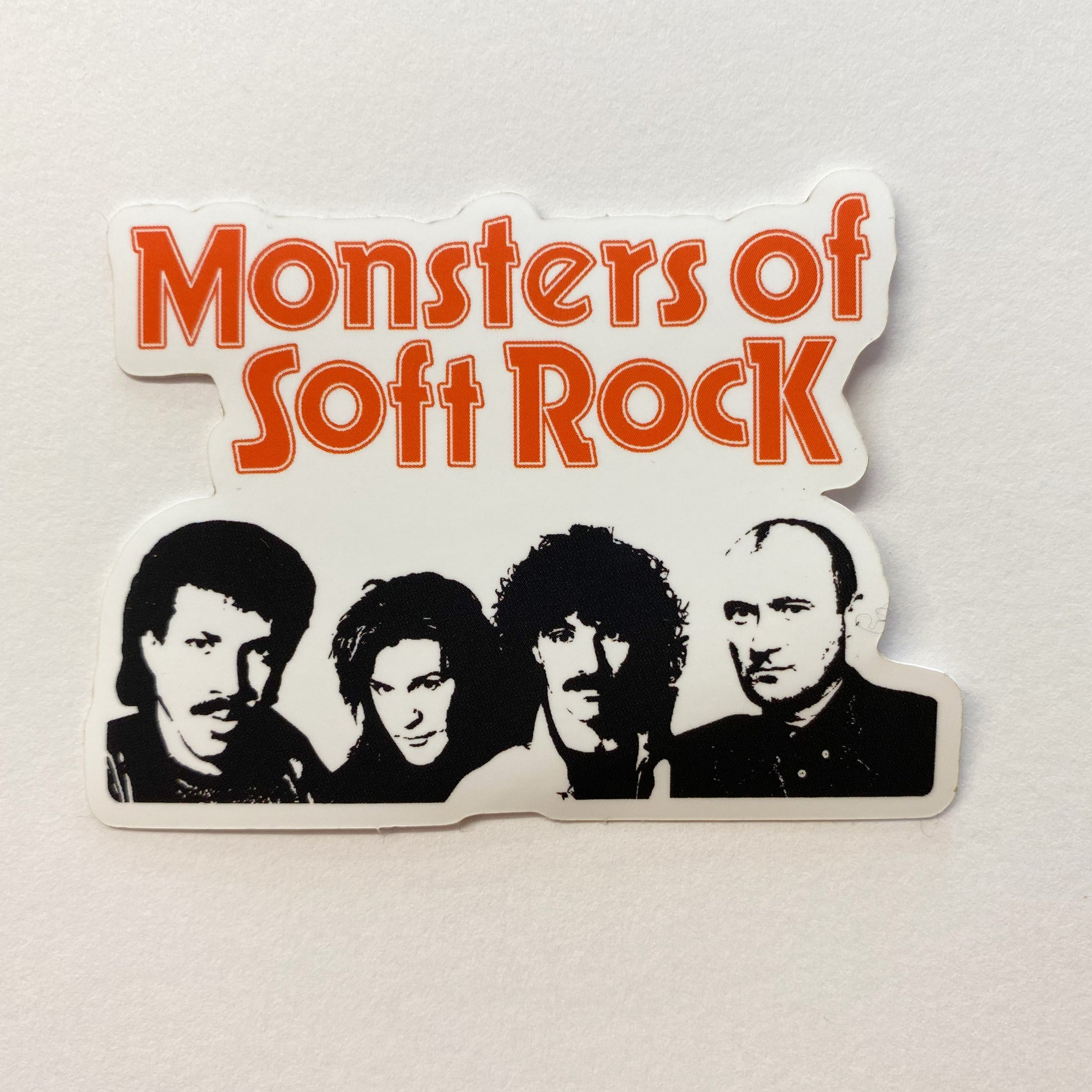 monsters of soft rock vinyl sticker