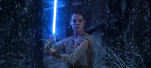 Star Wars: The Last Jedi CinemaCon footage sees Rey 'thrashing' Luke's lightsaber around