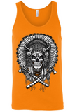 Men's Native Warrior Skull Tank Top Shirt