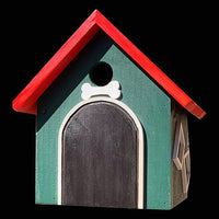 Dog House Birdhouse / Hanging