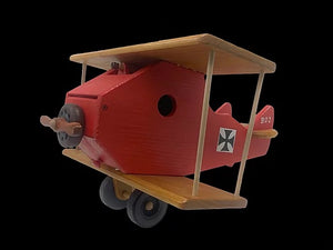 WW1 Red Barron Airplane Birdhouse
