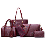 6 in 1 Designer Purse set
