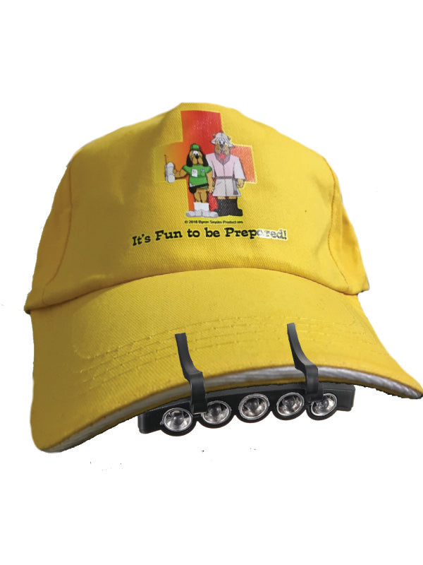 """It's Fun to be Prepared!"" Baseball Cap with light bar"