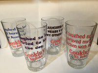 CNJ - Cookin's No Joke Drinking Glass Set plus Cookbook