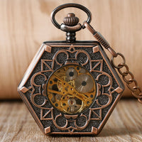 Luxury HIDDEN MICKEY Hand Wind Pocket Watch