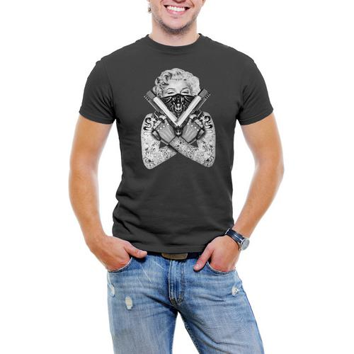 "Marilyn Monroe ""Gangster"" Men T-Shirt Soft Cotton Short Sleeve Tee"