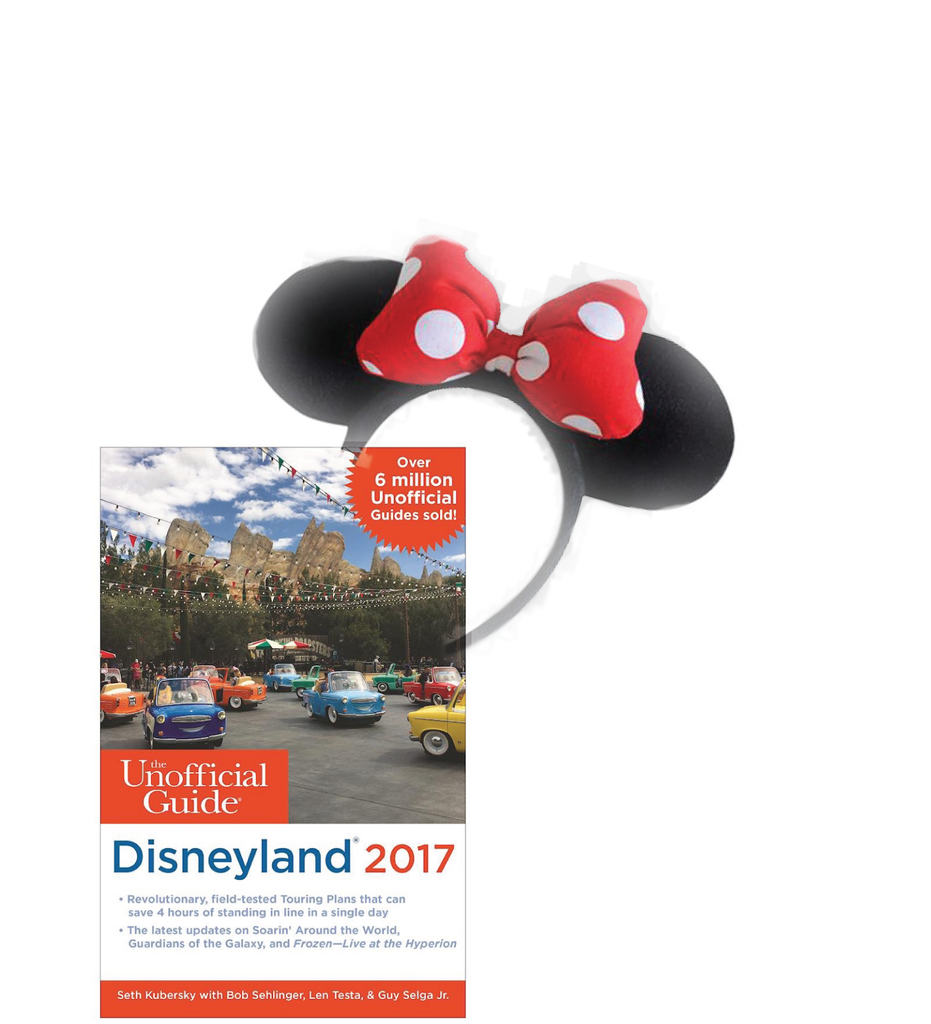 The Unofficial Guide to Disneyland 2017 - Paperback Plus Mouse Ears (Promo)