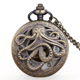 New Arrival Octopus Hollow Half Hunter Quartz Pocket Watch