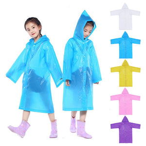 Waterproof Kids Reusable Raincoats Children 6-12 Years