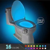Smart Motion Sensor Toilet Seat Night Light 8/16 Colors