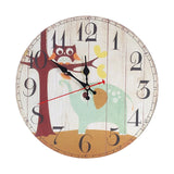Retro Circle Wall Decoration Watch Vintage Home Decoration Wall Clock With Roman Number Silent Decorative Wall Clock