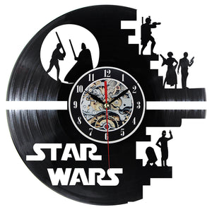 Jedi Vinyl Record Wall Clock Film