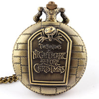 Nightmare Before Christmas vintage pendant quartz pocket watch