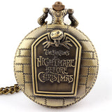 WDSP - Nightmare Before Christmas vintage pendant quartz pocket watch