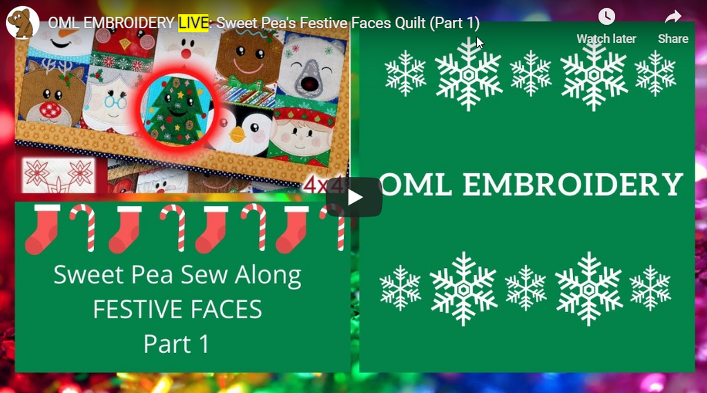 Stitch along: Sweet Pea's Festive Faces Quilt Gingerbread Man