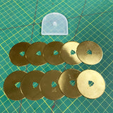 60mm Titanium Coated Rotary Cutter Blades for Olfa and Fiskars - Buy 15 Get 35 Free - The Fabric Hut
