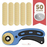 45mm Titanium Coated Rotary Cutter Blades For OLFA And Fiskars - Buy 15 Get 35 Free + Free Ergonomic Rotary Cutter - The Fabric Hut