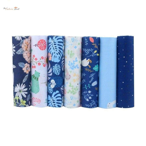 Fat Fifth Bundle - Blue Night Collection - Set of 7 - The Fabric Hut