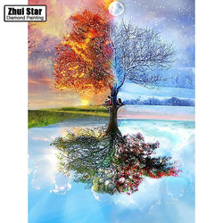 Diamond Painting Seasons Tree