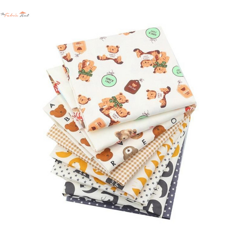 Fat Fifth Bundle - Children's Bear Collection - Set of 8 - The Fabric Hut